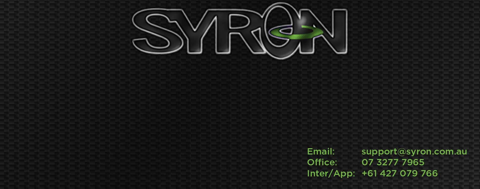 Syron Oceania and South East Asia