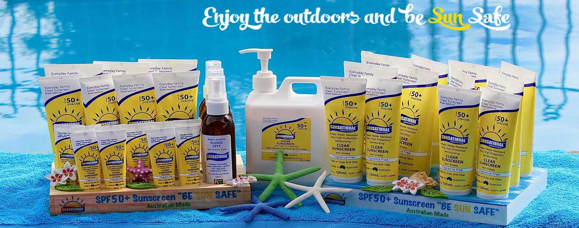 Sunsational Sunscreen and Body Care Products